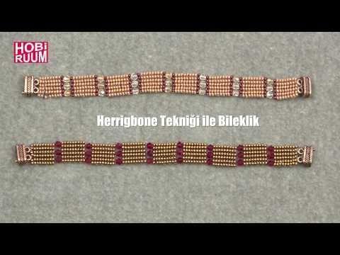 Herrigbone Bileklik Yapımı - YouTube