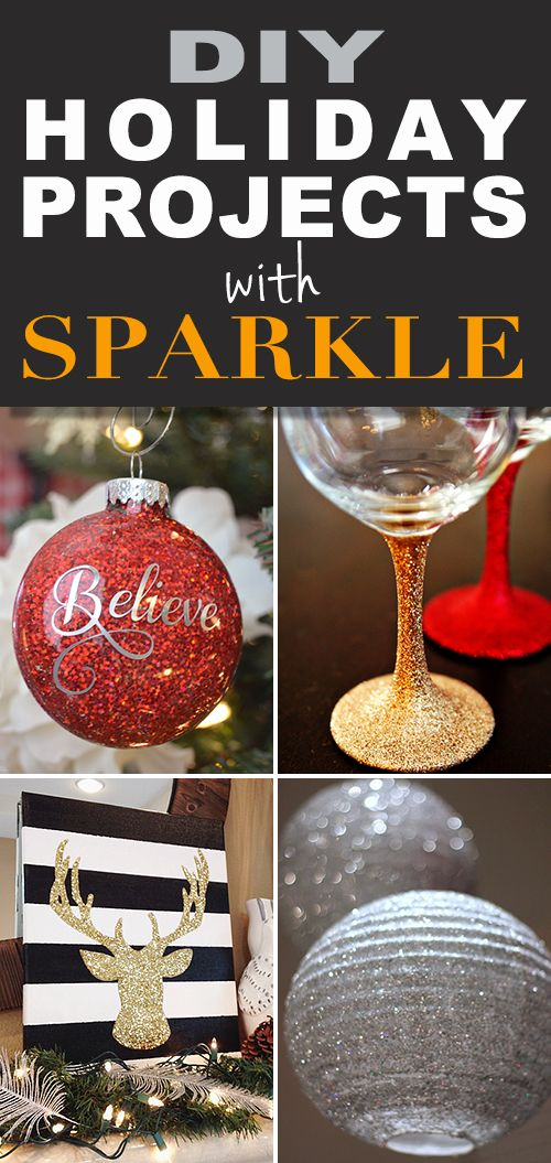 All That Glitters : DIY Holiday Projects with Sparkle! • Craft these ornaments and holiday decor with glitter and sparkle!