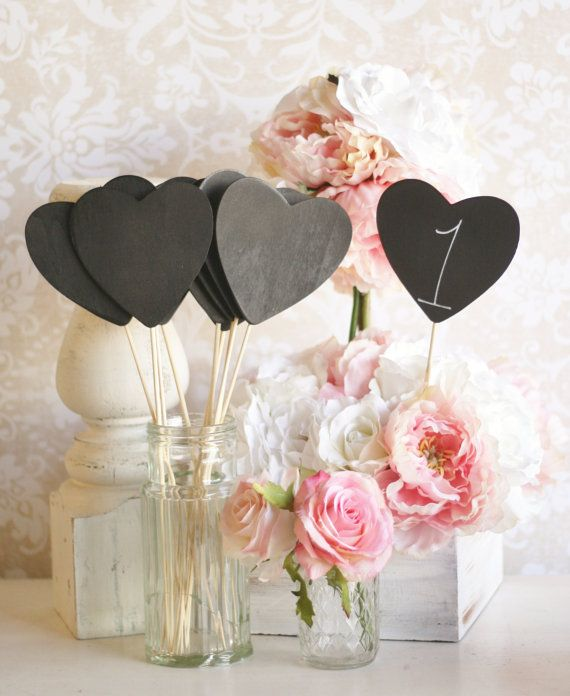 Chalkboard Signs Table Numbers love this idea