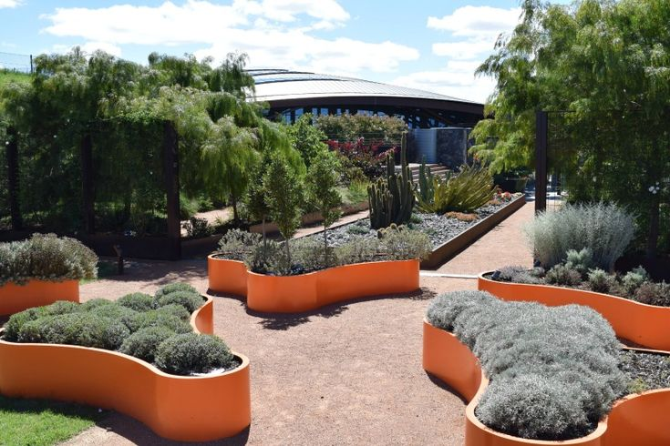 Modern planters l Large planter boxes l Colourful garden ideas l National Arboretum Canberra