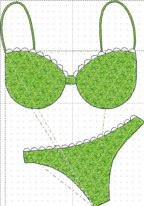 Fichiers Pes - Set mensuel - Maillot de bain / Lingerie - 26 fichiers - Annonce - Poussière d'aiguilles