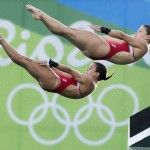 Meaghan Benfeito and Roseline Filion - Bronze medal in women's synchronized 10m platform diving