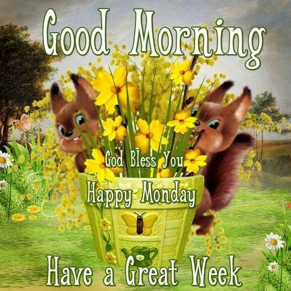 Good Morning, God Bless You, Happy Monday, Have A Great Week monday good morning monday quotes good morning quotes happy monday good morning monday quotes monday morning facebook quotes monday image quotes happy monday morning happy monday good morning