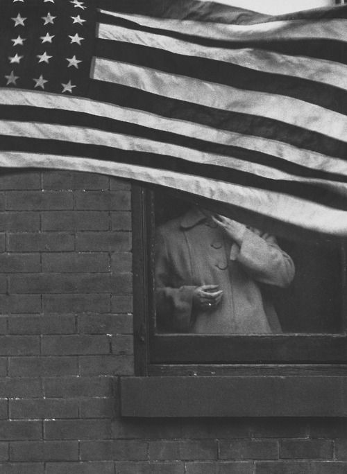 "Robert Frank - Parade - Hoboken, New Jersey (1955). From his book his book, ""The Americans"". S)"