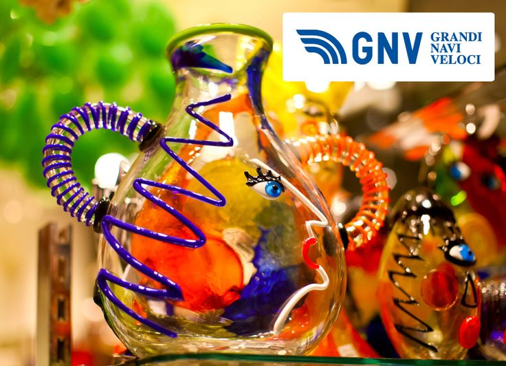Famous #venetian #colorful #souvenir from #murano #glass  Discover #GNV here: http://www.gnv.it/en/
