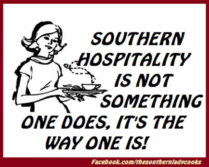Iv'e never lived in the south, but I can sure learn something from them!