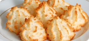 Our coconut macaroons have a wonderfully sweet coconut flavor with a crisp exterior and a soft and chewy texture.
