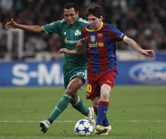 Gilberto Silva Panathinaikos against Messi