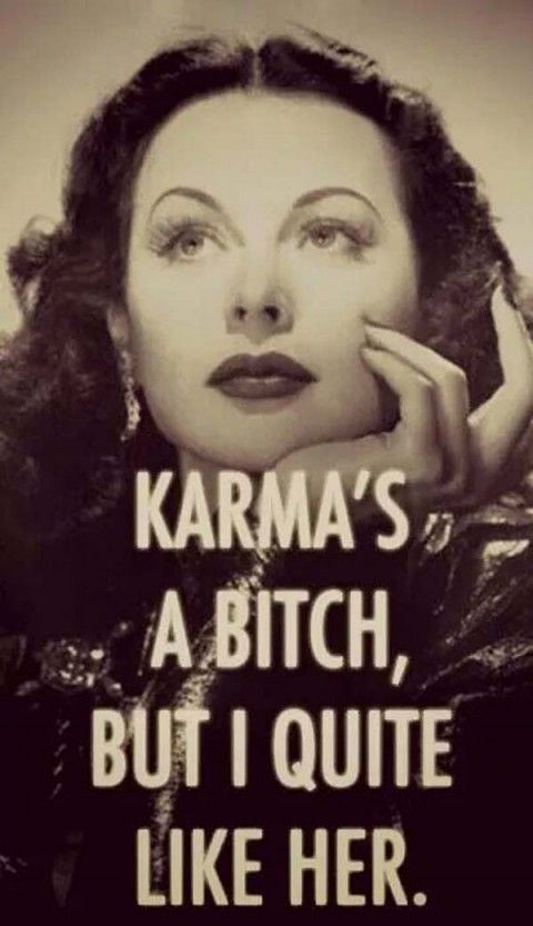 Exactly what karma looks like in my mind!