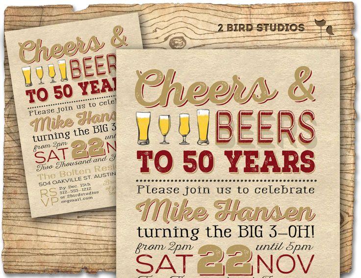 50th Birthday Invitation Surprise Party 50th by 2birdstudios