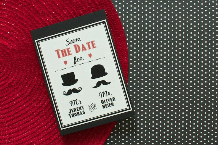 For all #retro #lovers the perfect Save the Date card | lucyvanbarnes.de