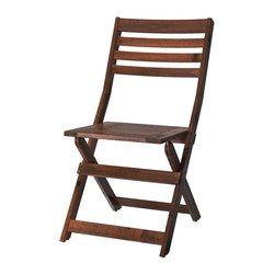 "ÄPPLARÖ Folding chair, acacia wood, Depth: 22 7/8 "", Height: 34 1/4 "", Width: 17 3/4 "", IKEA $35"