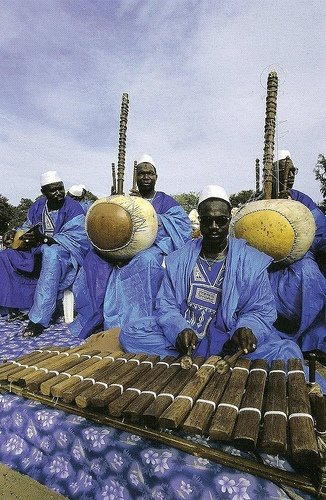 Musicians beat out traditional tunes at the Roots Homecoming Festival in Banjul, Ghana