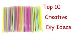 drinking straws crafts - YouTube