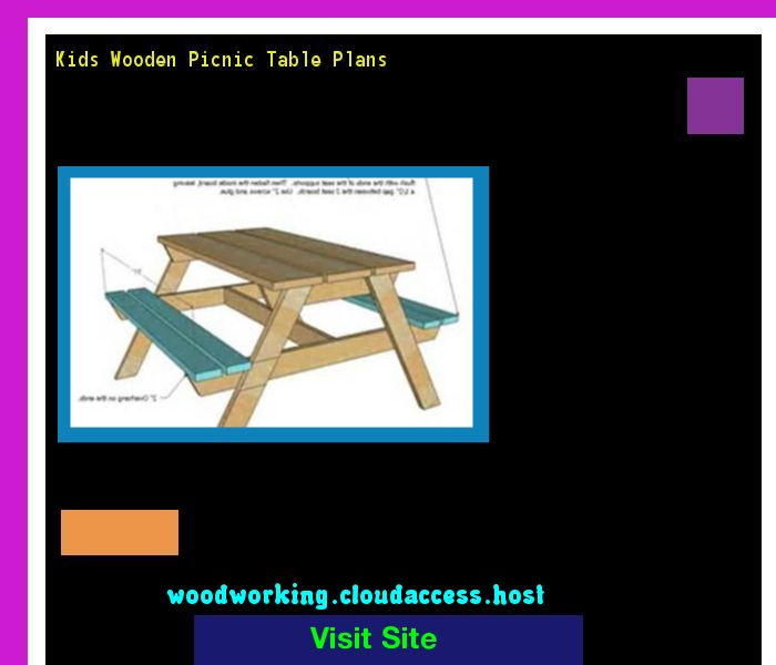 Kids Wooden Picnic Table Plans 065557 - Woodworking Plans and Projects!