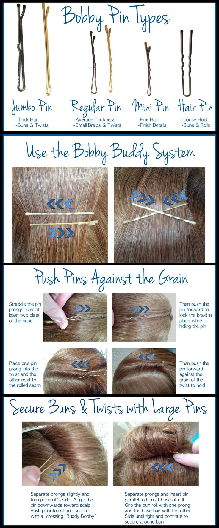 Insider Stylist Secrets: Bobby Pin Tips -  You've probably got a drawer full of them, or used one in a pickle to tame an unruly ponytail... But you may not know the BEST ways to use the bobby pin. As a hair stylist I cannot say enough about my love for bobby pins- they really are a stylist's best friend! So here are my best tips for using them...