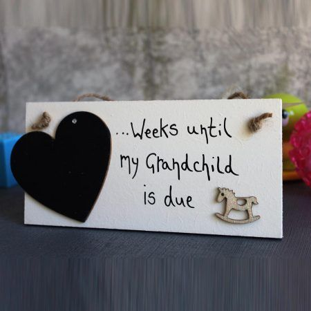 countdown until baby arrives - baby announcement ideas that will add a special bit of excitement to your parents.  Baby announcement to parents sign that is personalized. Parents to be Grandparents to be.All Handmade and designed be MadeAt94.