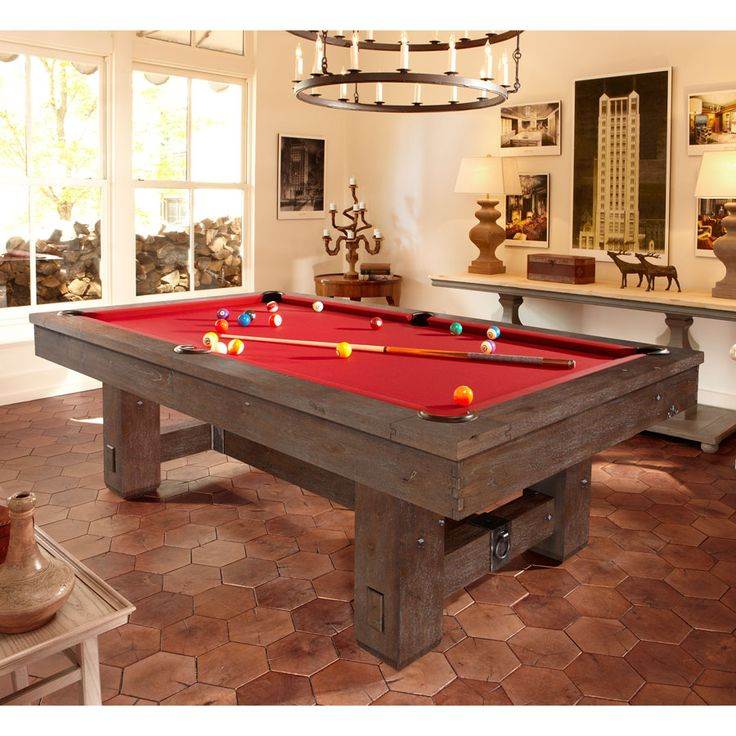 Brunswick merrimack billiard table rustic pool table for Brunswick pool tables