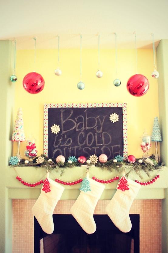Writing is on the Wall Christmas Mantel