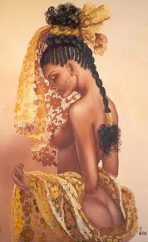 A lovely image of Oshun.  If anyone knows the artist please let us know so we can give proper credit ;)