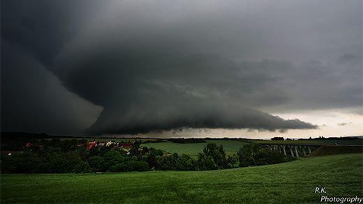 Thunderstorm near Gera, Germany