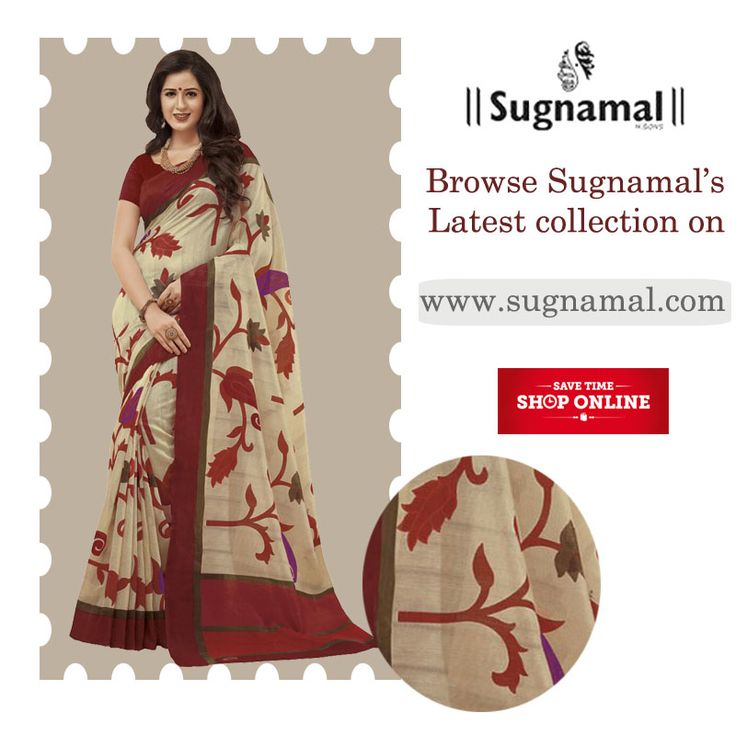 SHOP FROM THE FRESH ARRIVALS- Sugnamal assures you the #best #quality of product Feel any queries call or watsapp us:8418888893 (M) Land line: 0522-4005453 #shoponline #sarees #low_price #party_wear #indian #desi_touch #buy #new_arrival #happy_customers #limited_stock #quality #quarentee #sugnamal #hazratganj #lucknow #couture #traditional #reasonable  Visit us @ http://sugnamal.com/category/?cat=Shop+Women&&subcat=Sarees