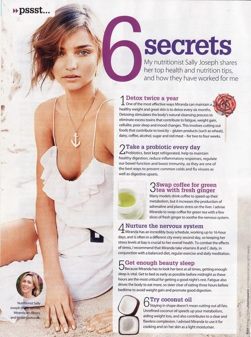This article was in New Zealand women's health magazine a few years back and I still remember and carry out these tips