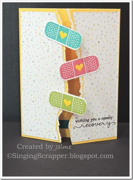 CTMH Kiss It Better stamp set with Calypso paper and Liquid Glass