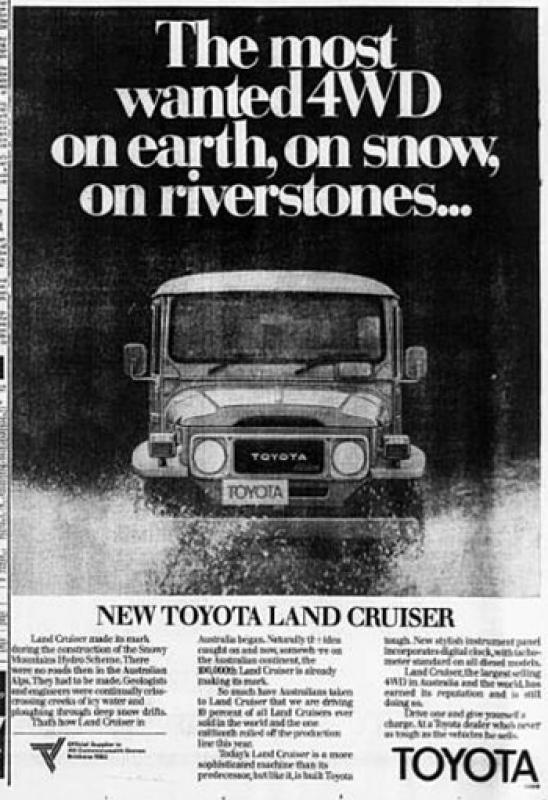 The Land Cruiser has always been popular!