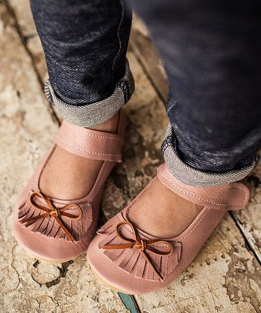Aren't these just lovely. #zulily! Pink Blush Leather Moxie Mary Jane #zulilyfinds