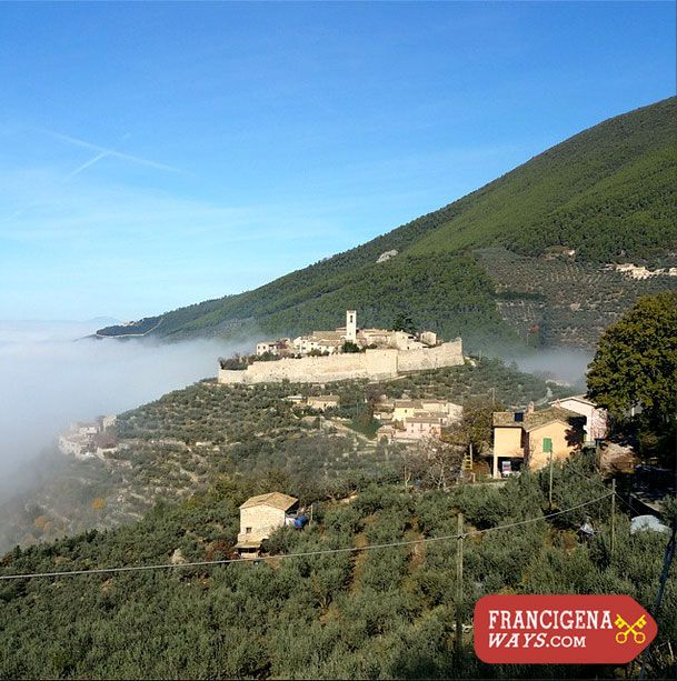Castello di Campello, Umbria #StFrancisWay #Italy #walking http://francigenaways.com/ways/st-francis-way/st-francis-section-3