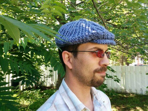 Retrouvez cet article dans ma boutique Etsy https://www.etsy.com/listing/239180441/beret-de-golfeur-au-crochet-pour-homme