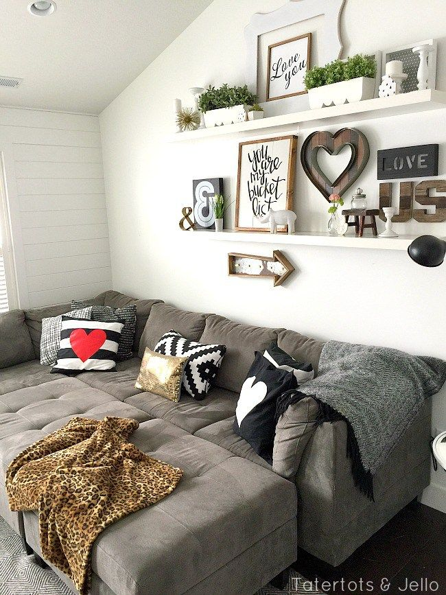 5 Simple Gallery Wall Ideas Shelves Above CouchWall Behind
