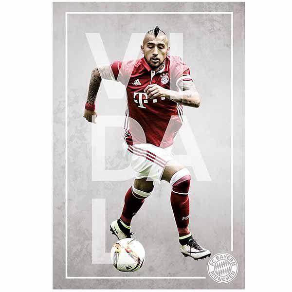 FC Bayern München Poster Arturo Vidal