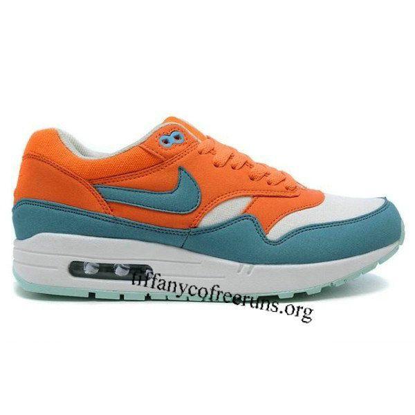 Womens Nike Air Max 1 Bright Mandarin Mineral Blue Shoes