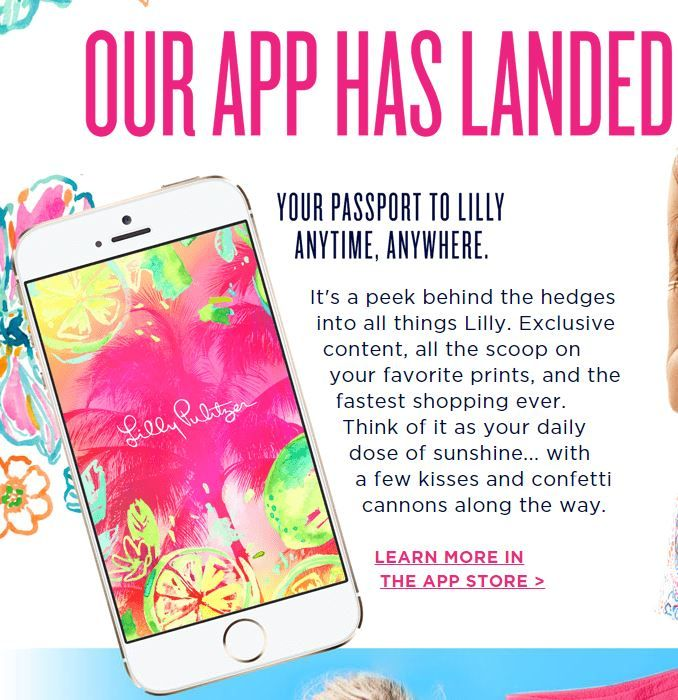 The Lilly Pulitzer iPhone app is your passport to Lilly