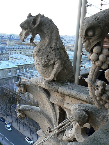 Climbed the many steps to the observation deck of Notre Dame between the two towers to see the gargoyles. Heights are not my strong point, but this was the most amazing view of Paris.