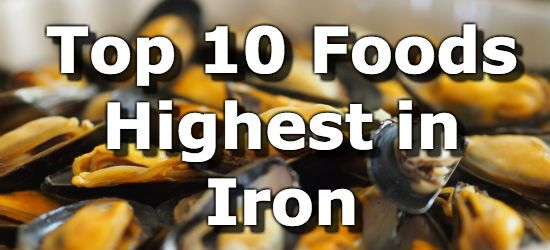 Top 10 Foods Highest in Iron - very informative. Useful info about different forms of iron & what helps or hinders absorption.
