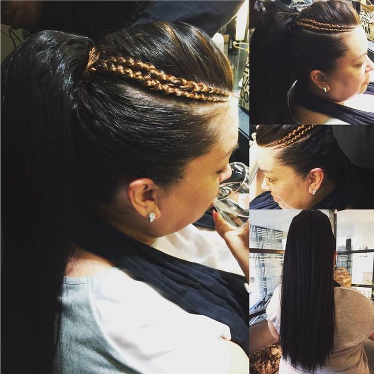Gorgeous funky pony tail and braids by Sandra at Midori.