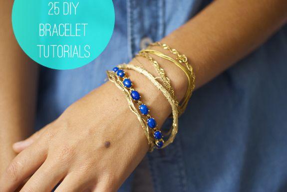 25 DIY Bracelets   http://helloglow.co/25-diy-bracelets/