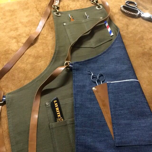 Reversible barber apron