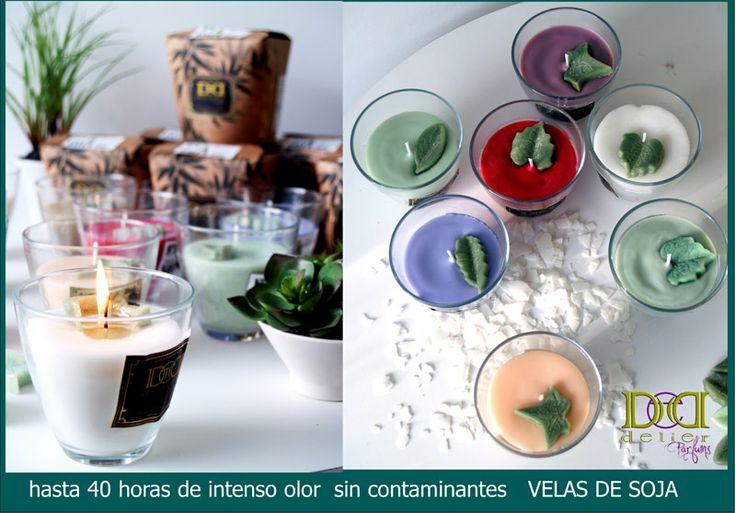 velas de soja de calidad y ecológicas por delier