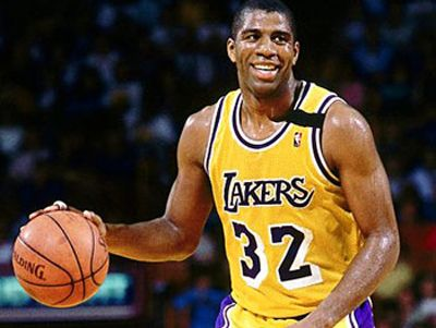 Magic Johnson with Los Angeles Lakers