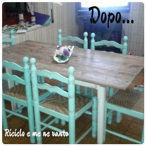 come #recuperare un vecchio #tavolo e vecchie #sedie rendendoli #meravigliosi? la nostra #arredalover Cecilia ci racconta questa #trasformazione in stile #shabbychic  http://www.arredabook.it/index.php/arredalovers-menu/518-un-tavolo-fortunato-riprende-vita