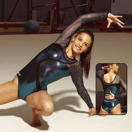 JUSTOGYM Justaucorps Manches longues de la marque agiva pour gymnastique, patinage, grs, gym rythmique, gym artistique