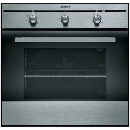 aix 60cm single builtin electric fan oven inox at homebase