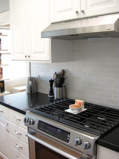Completely Remodeled Black And White Kitchen Ikea Lidingo Cabinets Caesarstone Quartz