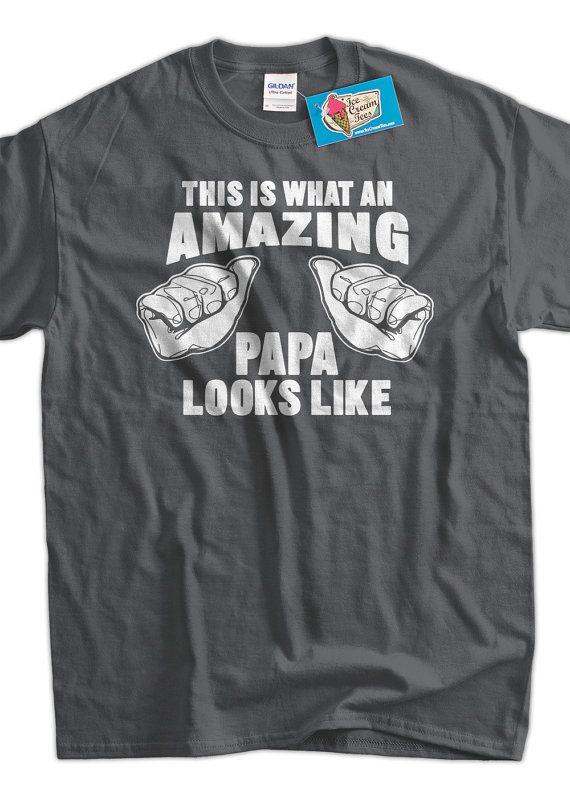 Amazing PAPA TShirt Looks like Gift Idea for grand by IceCreamTees, $14.99