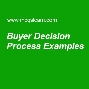 Buyer Decision Process Examples
