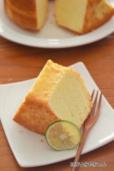ホットケーキミックスで♪ふわふわ すだちシフォンケーキ by 四万十 ...